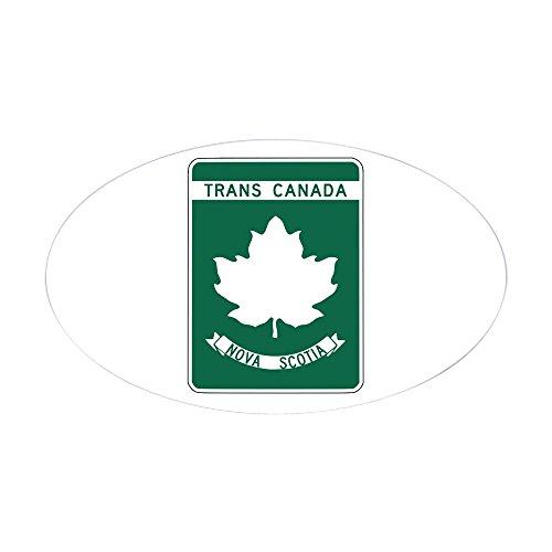 CafePress Trans-Canada Highway, Nova Scotia Oval Sticker Oval Bumper Sticker, Euro Oval Car Decal