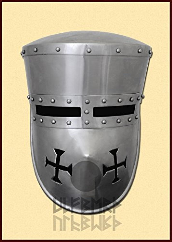 Schaukampftauglicher Kreuzritter Helm Paladin Mittelalter LARP Wikinger Gre M oder L (L)