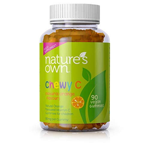 Nature's Own Chewy C- 90 Vegan Kids Chewable Vitamin C Gummies-Suitable for Children & Adults