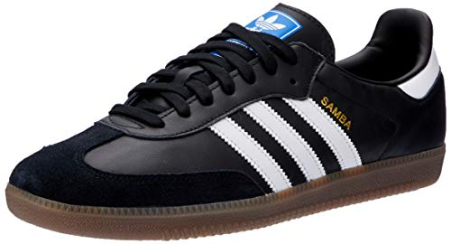 adidas Men's Samba Og B75807 Low Top Sneakers, Black (Core BlackFTWR WhiteGum5 Core BlackFTWR WhiteGum5), 9 UK