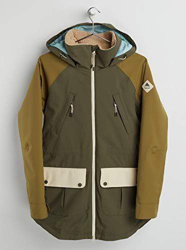 Burton Damen Prowess Snowboard Jacke, Keef/Martini Olive/Creme Brulee, L