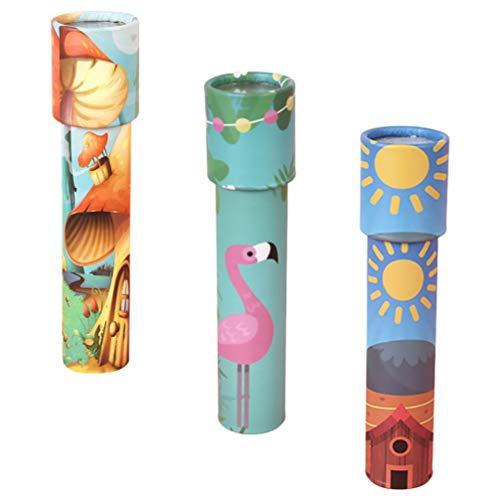 TOYANDONA 3 Stück Kinder Kaleidoskop Spielzeug Pädagogische Alte Welt Kaleidoskop Magie Klassische Spielzeug für Jungen Und Mädchen Geschenke (Gemischter Stil)