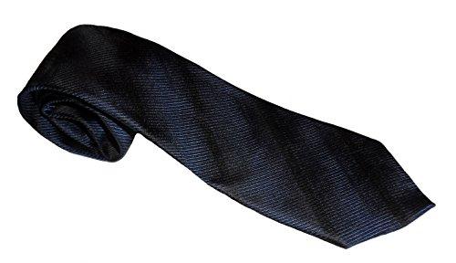 Marc Anthony Tapered Repp-Striped Tie (Denim)