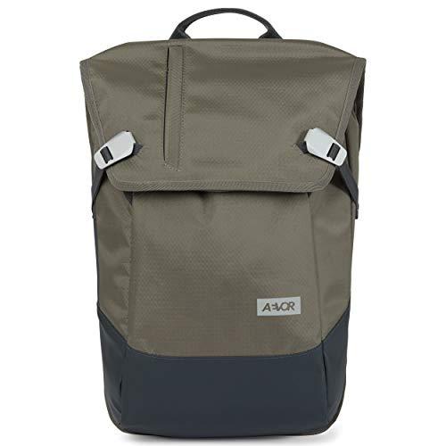AEVOR Daypack - erweiterbarer Rucksack, wasserfest, ergonomisch, Laptopfach - Proof Clay - Grau