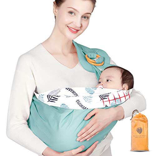 Upchase Baby Tragetuch, Babybauchtrage Sling, Kindertragetuch, Babytrage Neugeborene Unisex, (Baumwolle) - Kleinkinder bis 15 Kg - Ergonomische Babytragen