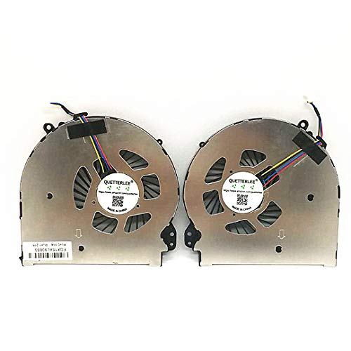 QUETTERLEE Replacement New CPU GPU Cooling Fan for HP OMEN 15-5000 15-5100 15-5110NR 15-5113DX 5099NR 15-5050NR 15-5010NR 15-5113DX 15-5020CA 15-Q001TX 15T-5100-5000 TPN-W111 Series 788600-001 Fan