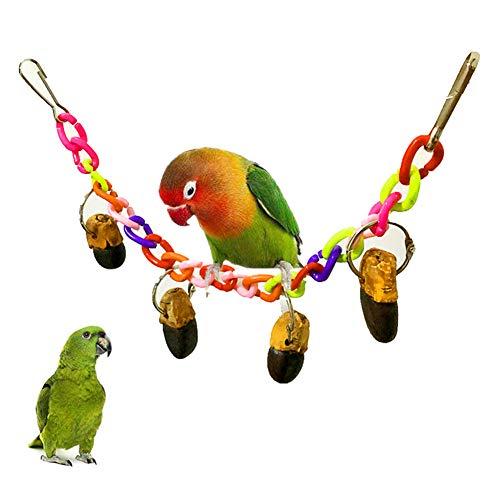 Dyyicun12 vogelpapegaai speelgoed, huisdier vogel papegaai kooi nep dennenappel touw slingeren klimmen spelen kauwspeelgoed cadeau, Willekeurige kleur