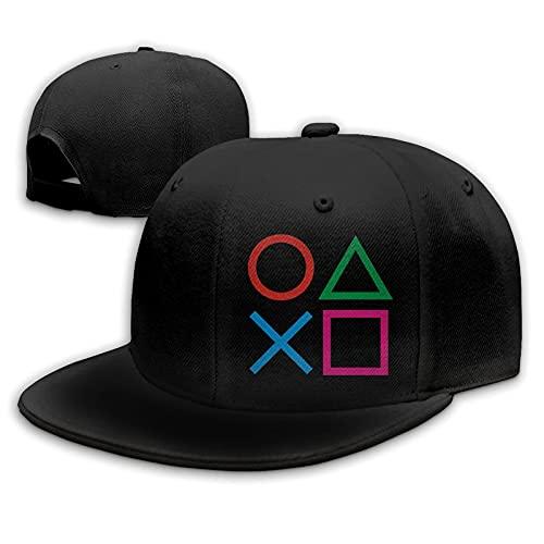 Play Games Station Hat Joypad Hats Snapback Flat Bill Baseball Cap Men