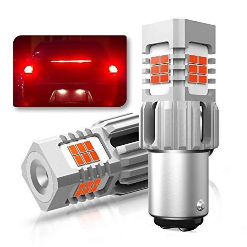 Tira de luz LED Sin Error Hyper Flash Bay15D P21 / 5W LED Lámpara de señal de Giro CANBUS Luces de automóvil Rojo 1157 LED Bombilla de cuña 3020 SMD 12V Auto LÁMPARA Tira de luz