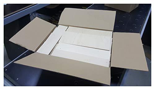 4-5kg Reste Brettchen Sperrholz 3mm-12mm stark Multiplexplatten Holz Brett Zuschnitte Paketgröße L: ca. 40 x 30 x 10 cm