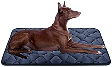 Hero Dog Large Dog Bed Mat 42 Inch Crate Pad Anti Slip Mattress Washable for Pets Sleeping (Grey L)