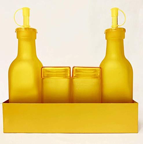 Pusher Set per Condimenti Monocromo, Giallo