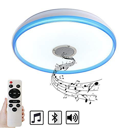 Natsen® 24W Bluetooth Deckenleuchte LED Deckenlampe dimmbar mit Fernbedienung (40 * 40 * 7cm)