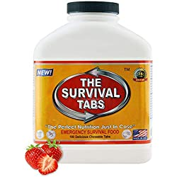 Survival Tabs 15-Day Food Supply Emergency Food Ration 180 tabs Survival...