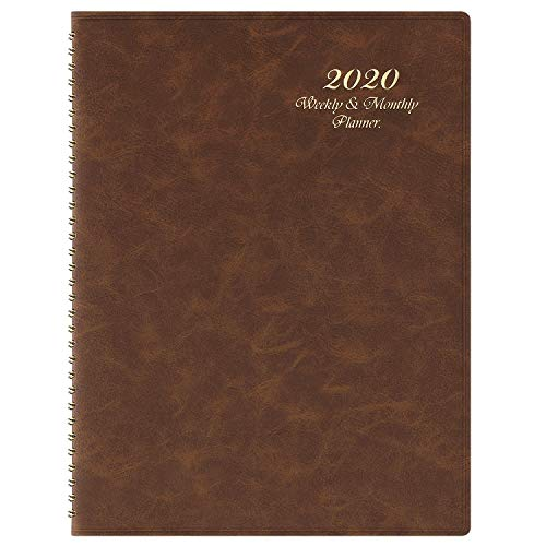 2020 Planner - 2020 Weekly & Monthly Planner Jan - Dec with Tabs, 8.7