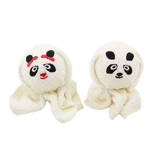 LJSLYJ Mini serviette de voyage compressée avec des animaux mignons, Couple serviette, Cadeau de Saint Valentin, Style Panda