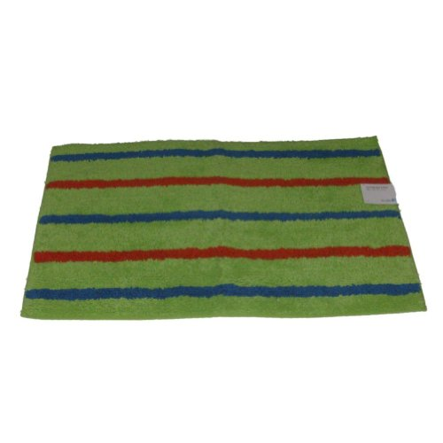 Studio A Green Stripe Accent Bath Rug 20x30 Cotton Tub Mat