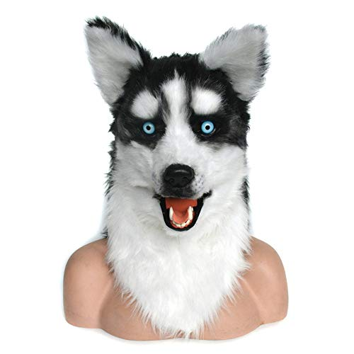 Cabeza popular Máscara animal premium Realista hecha a mano personalizada Cosplay Máscara bucal móvil Máscara husky Simulación Cabeza animal Máscaras de animales Mascara animal ( Color : Brown )