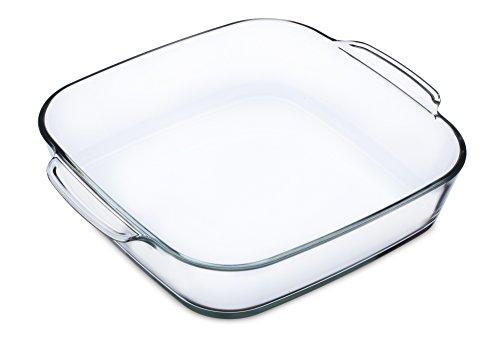 Simax 021 003 005 Square Dish 1.6 l Brat und Backschale, Glas, Transparent
