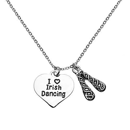 Sportybella Irish Dance Necklace- Irish Dance Jewelry for Irish Dance Recitals and Irish Dancers