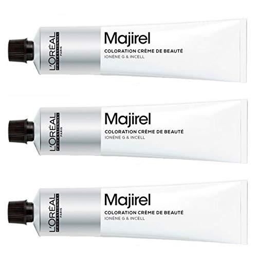 Loreal Majirel 1 schwarz 3 x 50 ml Haarfarbe LP Coloration