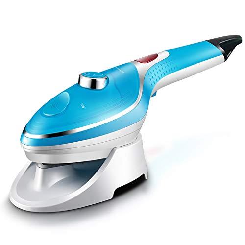 Steam IronsGY GY kledingstomer ijzer, 1000 W hand, klein gehouden stoomborstelsproeier, keramische grondplaat, 3 snelheidsinstellingen, verticaal horizontaal, draagbaar thuis reizen, blauw