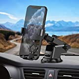 Syncwire Support Téléphone Voiture Ajustable - Porte Portable Voiture avec Rotation 360° pour iPhone 11 Pro Max / XS Max / X / XR / 8 Plus / 8, Samsung S10 / S9 / S8, Huawei, Xiaomi etc.