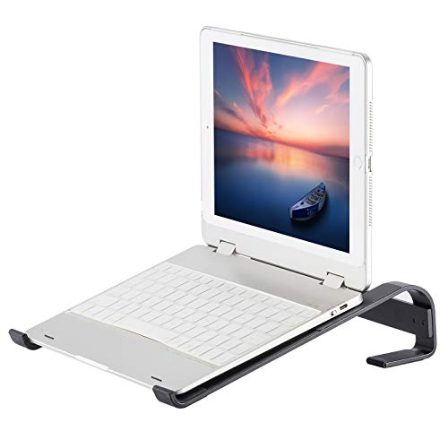 GATSIROGA Laptop Stand for Desk, Ventilated Computer Riser, Premium Ergonomic Aluminum Laptop Holder Stand, Compatible with 11''-17.3'' MacBook Air Pro and More PC, Work from Home