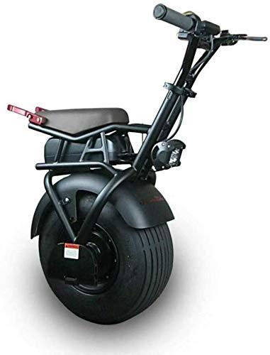 JILIGUALA Elektrisches Gleichgewicht Einrad 18 Zoll Big Single Rad-Elektro-Einrad Scooter Selbst Balancing Adult Elektroroller mit 1000W Leistungsstarke 60V Lithium-Batterie