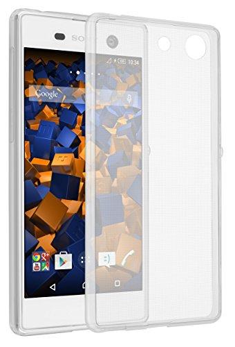 mumbi Hülle kompatibel mit Sony Xperia M5 Handy Hülle Handyhülle dünn, transparent