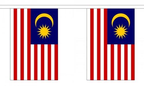 Flag Co 9 metres 30 (22,9 x 15,2 cm) Drapeau Malaisie de Malaisie 100% Polyester Matériau fanions Décoration de fête Idéal pour Street House Pubs Clubs Les écoles