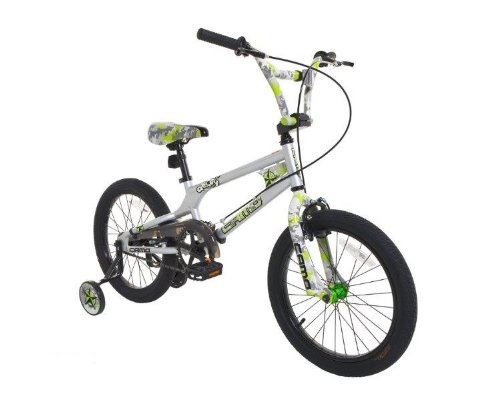 "Dynacraft Camo Decoy 18"" Kids' Bike - Silver/Green"