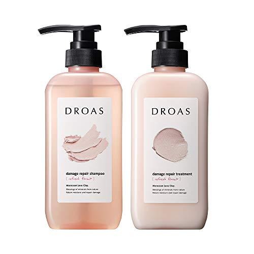DROAS ドロアス ダメージリペアシャンプー・ダメージリペアトリートメント リフレッシュフローラルの香り (...