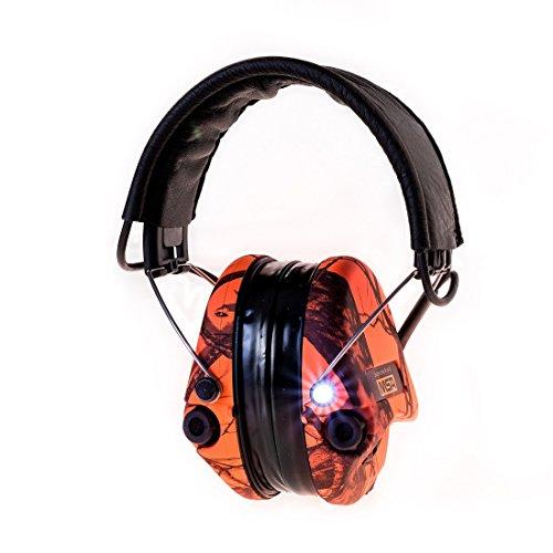 Protector auditivo Activo con l/ámpara LED Kit de Gel Cinta de Camuflaje Copas Verdes Sordin Supreme Pro X SOR75302-X-07