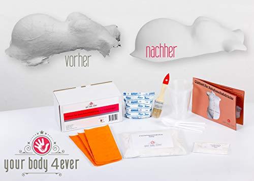 Set zum Glätten & Veredeln | Gipsabdruck Babybauch Bauch-Abdruck Gips-Binden 3D