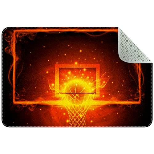 LoRVIES Doormat - Baloncesto para interior (mate, no incluye cinta de goma para el suelo, 24 x 16 pulgadas)