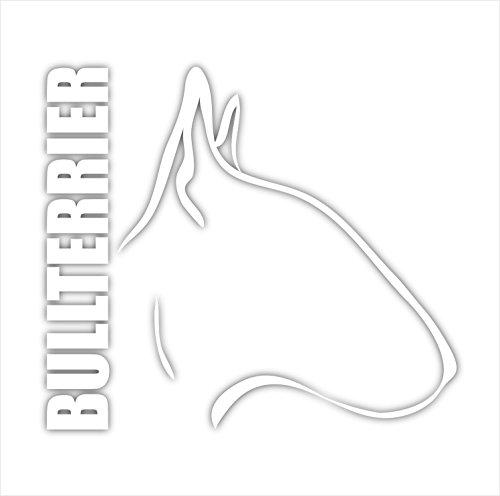 Siviwonder Auto Aufkleber BULLTERRIER Profil Hundeaufkleber white