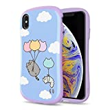 iFace x Pusheen First Class Designed for iPhone Xs Max – Cute Shockproof Dual Layer [Hard Shell + Bumper] Case [Drop Tested] - Blue Sky Balloon
