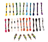 Anchor Cross Stich/Long Stich Embroidery Threads, Multicolored Set of 50, 8 Mt Each
