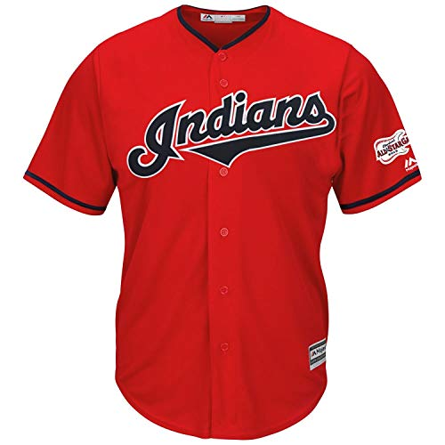 Majestic Cleveland Indians Cool Base MLB Trikot Jersey ASG 2019 Rot (S)