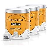 Café Saula, Pack 3 botes con 60 cápsulas compostables. Café Premium Original. Compatibles Nespresso®