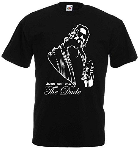 The Big Lebowski T-Shirt Just Call me Dude Shirtschwarz-XXL