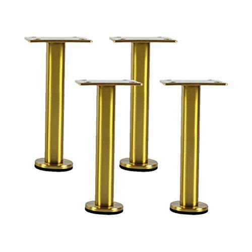 Möbelfüße Höhenverstellbar MöbelbeineAus Edelstahl Möbelfüsse Verstellbar Füße für Möbel MöbelfüßeZubehör für Beistelltisch Sofa Werkbank Couchtisch Schrankfüsse Nachttisch Badezimmerschrank,Golden