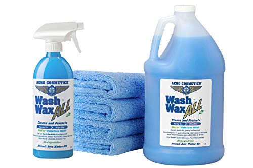 Wet or Waterless Car Wash Wax Kit 144 Ounces. Aircraft Quality for...