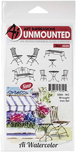 ART IMPRESSIONS Watercolor Stamp WRGHT, WC Wrought Iron