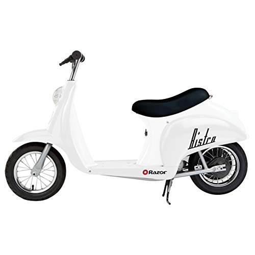 Razor Pocket Mod Miniature Euro 24V Electric Kids Ride On Retro Scooter, Speeds up to 15 MPH with 10 Mile Range, Ages 13 and Up, White