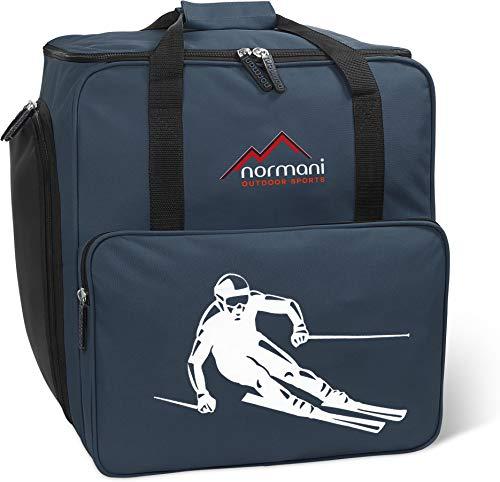 normani Skischuhtasche mit separatem Helmfach und Rucksackfunktion Alpine DEPO Farbe Navy