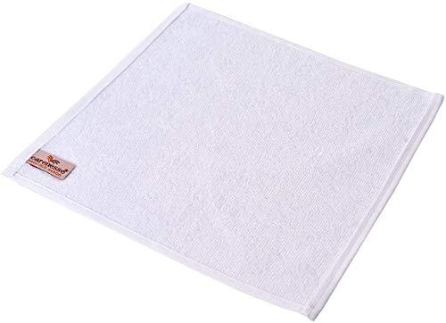 Carenesse Serviettes llavettes Lot de 6, 30 x 30 cm Blanc, 100% Coton, Tissu éponge retors Serviette d'invité essuie-Main Serviette pour bébé