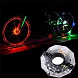 2 PCS Bicycle Hub Light USB Rechargeable Bike Wheel Hub Lights Waterproof LED Cycling Lights Colorful Bicycle Spoke Lights with 3 Modes 4 Colors for Safety Riding Warning and Decoration