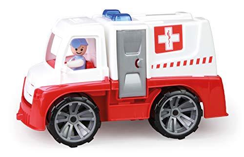 Lena 04456 - TRUXX Krankenwagen Einsatzfahrzeug mit Spielfigur als Sanitäter und Krankentrage, Krankenauto...